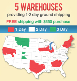 1-2 day ground shipping from Polybagsupplies.com